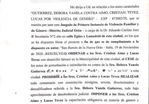 La Justicia ordena a Aimo y Tevez a cesar actos intimidatorios