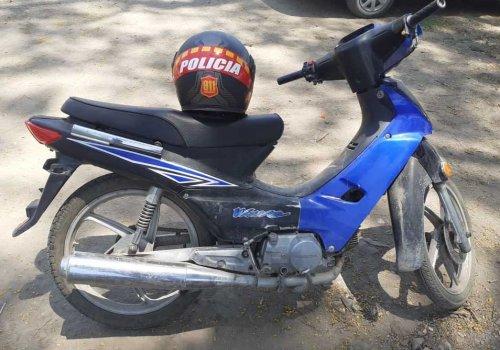 Recuperan una moto robada en Oran